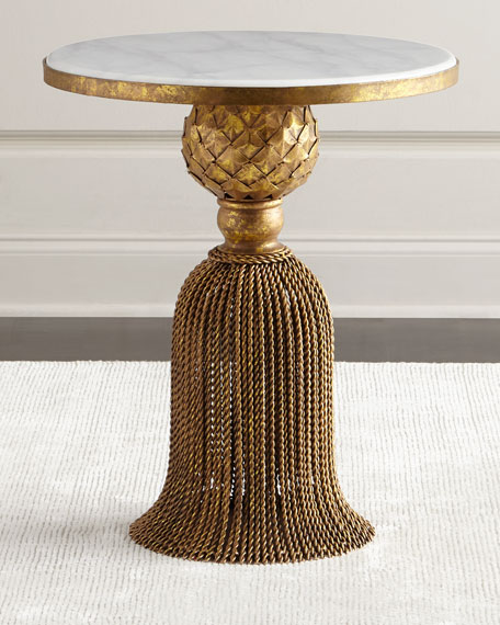 Kay Marble Tassel Table
