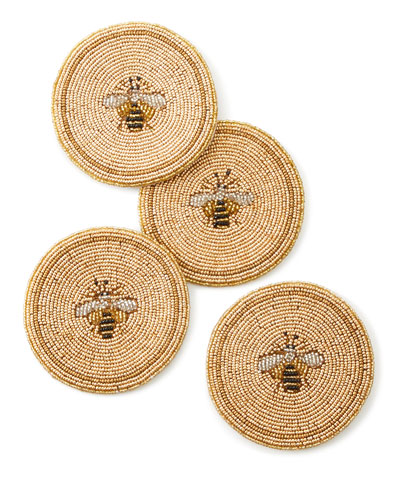 Bee Coasters  Set of 4