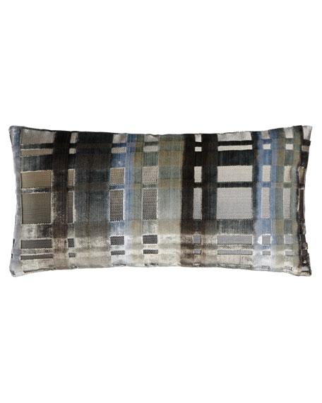 """Colonnade Zinc Pillow, 12"""" x 24"""""""