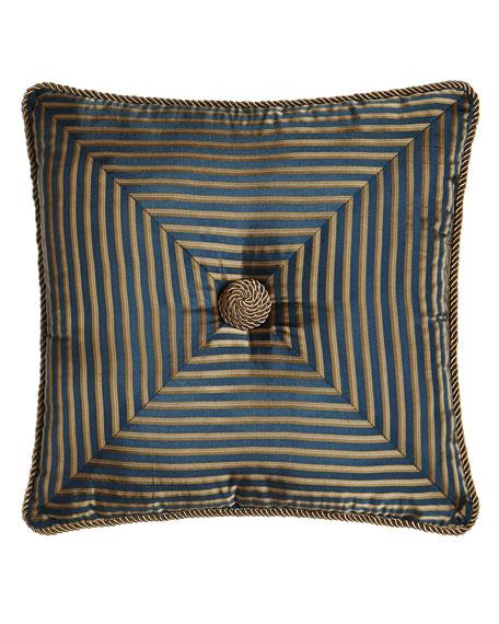 "Mitered-Stripe Pillow, 18""Sq."