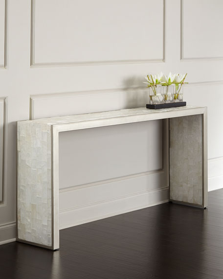 Hooker furniture blanc chapel console table - Table console blanc laque ...