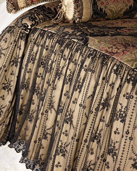 Sweet Dreams Queen Monte Carlo Skirted Coverlet