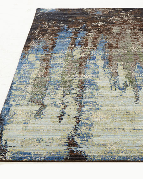 "Moody Blues Rug, 9'9"" x 13'"