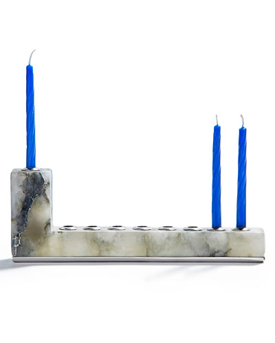 Brillante Menorah with Silver Hardware