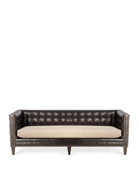 Geronimo Leather Sofa 90""