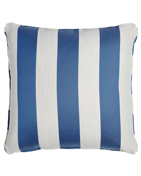 "Stripe Outdoor Pillow, 18""Sq."