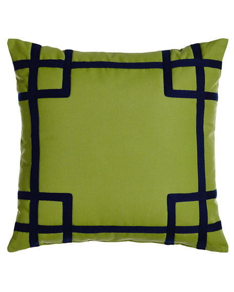 Rio Green/Navy Outdoor Pillow