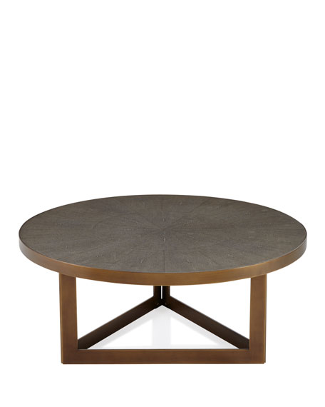 Ebba Faux Shagreen Round Coffee Table