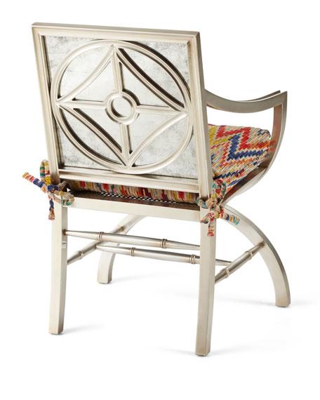 Dawn Mirrored-Back Accent Chair