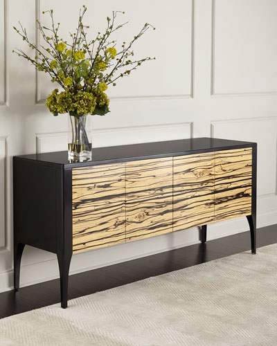 Zachary Zebra-Wood Console