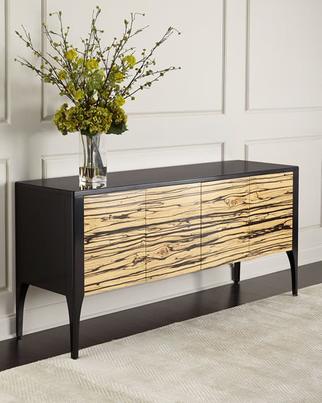 John Richard Collection Zachary Zebra Wood Console