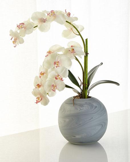 Slate and Diamonds Faux-Floral Arrangement