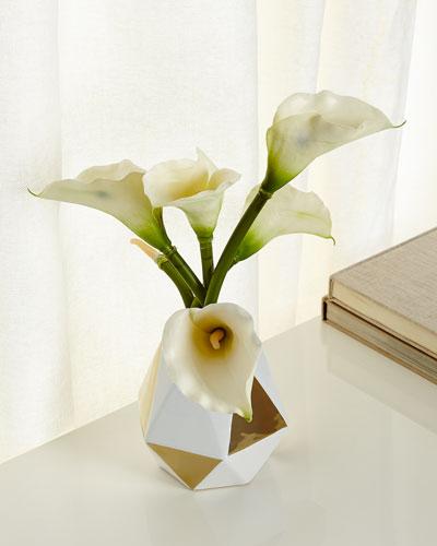 Golden Hex Faux-Floral Arrangement