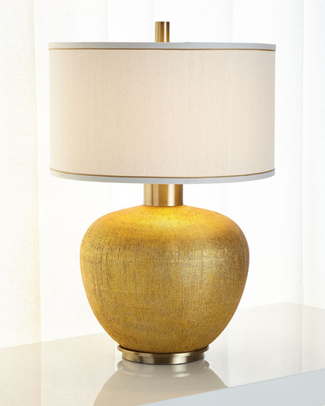Textured Gold Table Lamp
