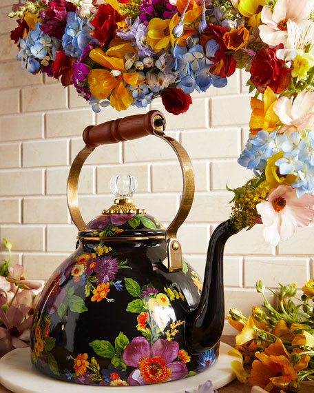 Flower Market Three-Quart Tea Kettle