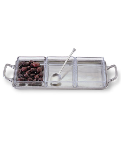 Crudite Tray with Handles