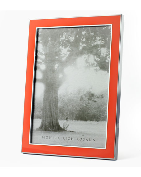 Silver Plate & Enamel Picture Frame