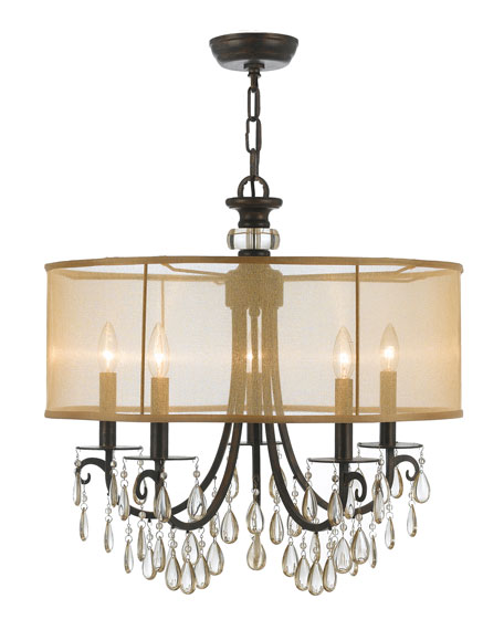 Hampton 5-Light Bronze Shaded Chandelier