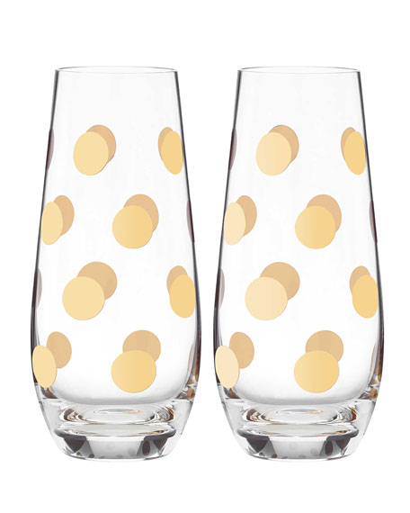 Pearl Place Stemless Champagne Glasses, Set of 2