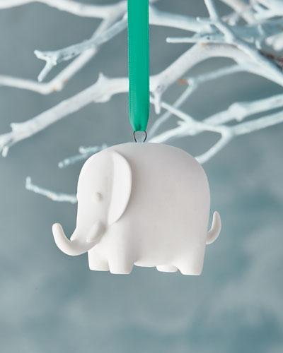 White Elephant Christmas Ornament