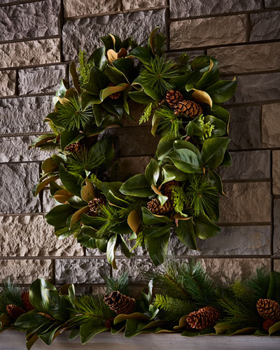 Magnolia Leaf 30 Wreath