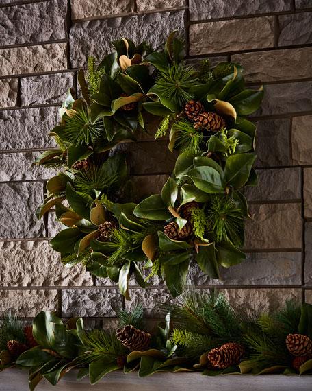 """Magnolia Leaf 30"""" Wreath"""