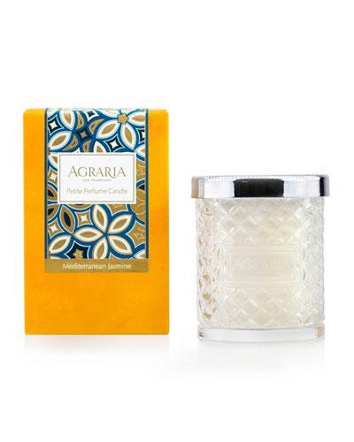 Mediterranean Jasmine Crystal Cane Candle  3.4 oz.
