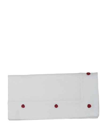 Berry Ruby Embroidered Napkin