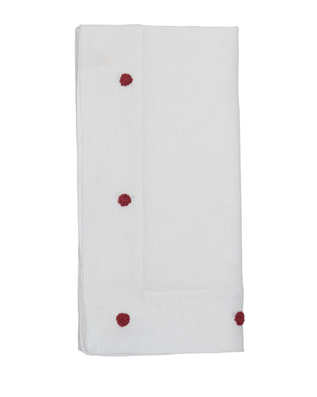 Juliska Berry Ruby Embroidered Napkin