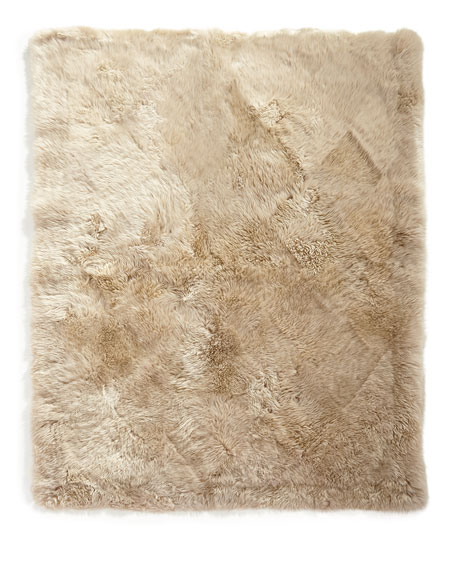 """Sheepskin Rectangle Rug, 5' x 8'6"""""""