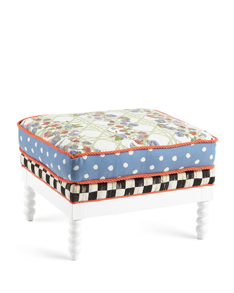 Morning Glory Outdoor Ottoman