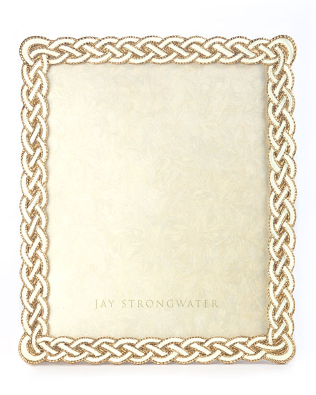 "Cream Braided Frame, 8"" x 10"""