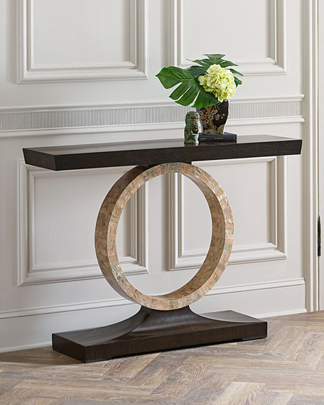 John-Richard Collection Napree Circle Console Table