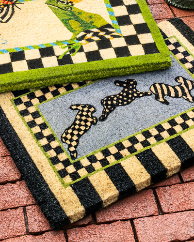 Outdoor pillows garden stools at neiman marcus horchow for Mackenzie childs fish rug
