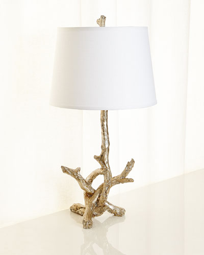 Silver Leaf Branch Lamp