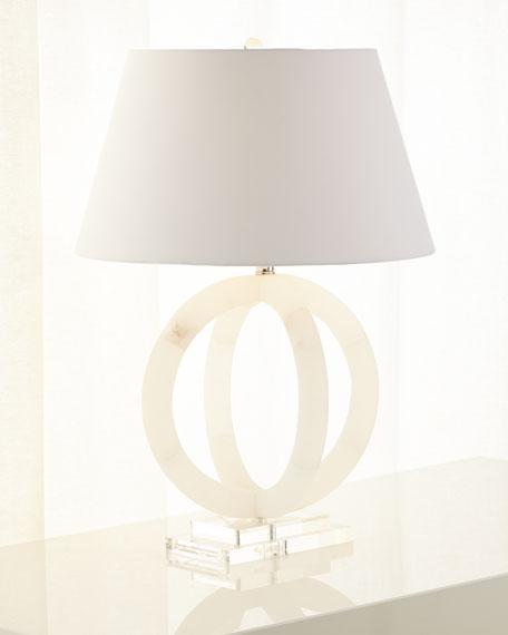 Circular Alabaster Lamp