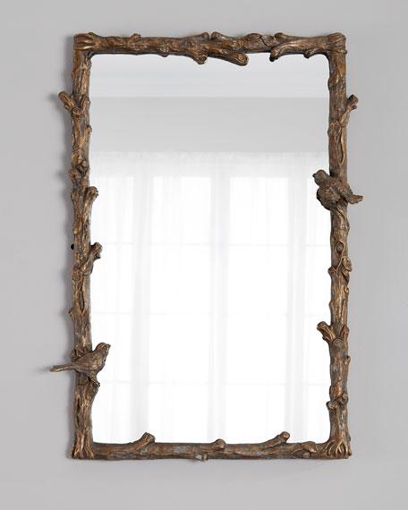 Gold Bird-Motif Mirror