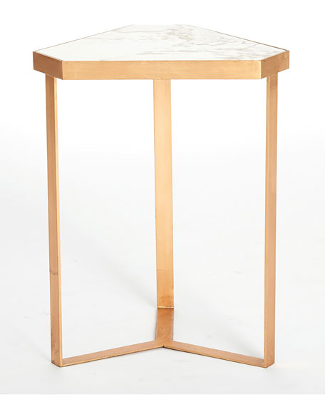 Lennon Tri-Hex Marble Table