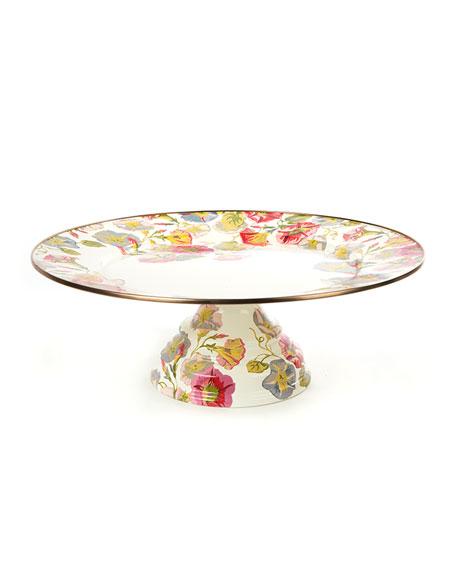 Large Morning Glory Pedestal Platter