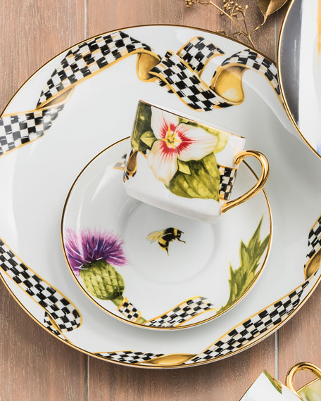 Ribbon Thistle & Bee Dinner Plate