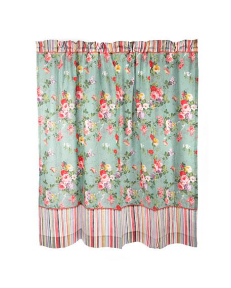 MacKenzie Childs Chelsea Garden Shower Curtain