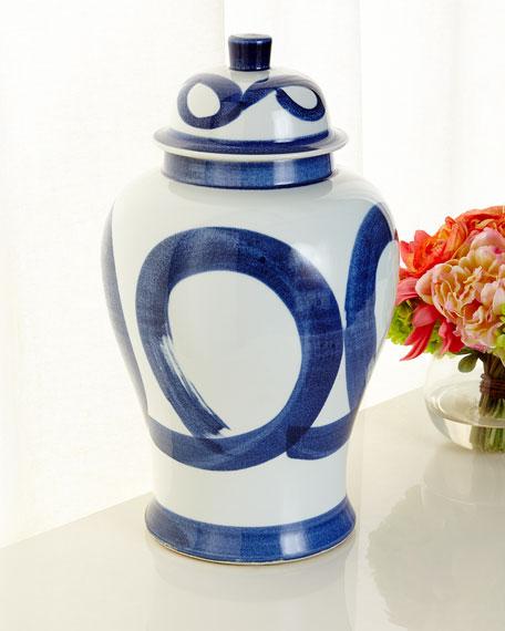 Brushstroke Swirl Jar
