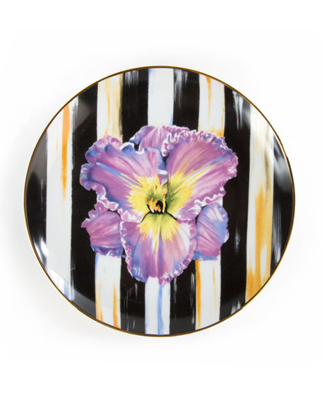 Iris Thistle & Bee Salad Plate