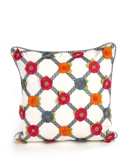 Tic-Tac-Posie Square Pillow