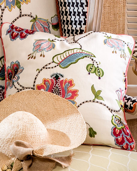 MacKenzie-Childs Chelsea Garden Pillow, 20
