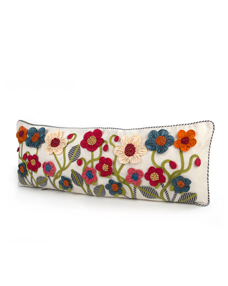 Long Tic-Tac-Posie Lumbar Pillow