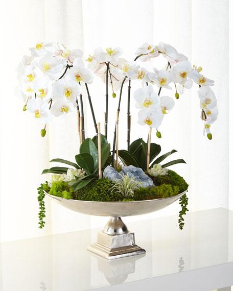 T c floral company orchids succulents faux floral Christmas orchid arrangements
