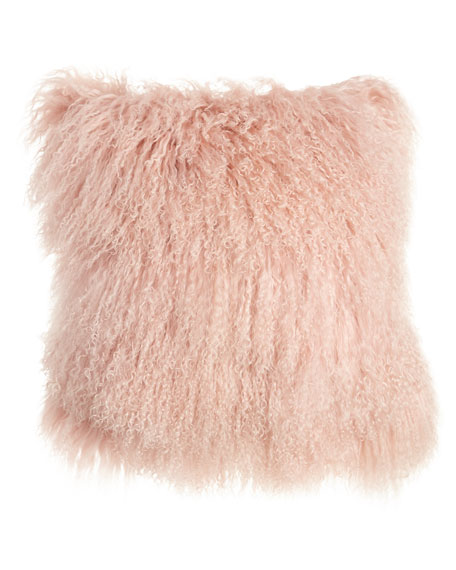 Blush Tibetan Lamb Pillow