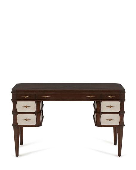 Rosie Writing Desk, Brown/White