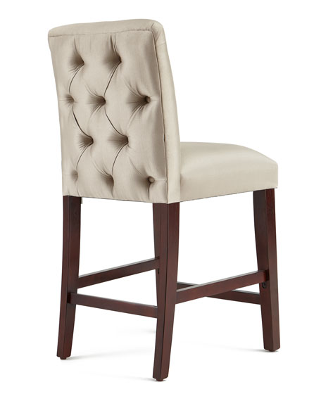 Alain Diamond-Tufted Counter Stool